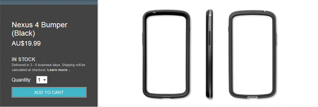 Nexus 4 Bumper in stock