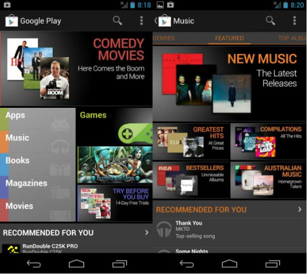 Android GOogle Play Music