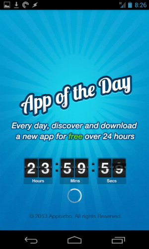 App Of The Day - Splash Page
