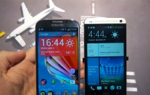 The S 4 alongside the HTC One