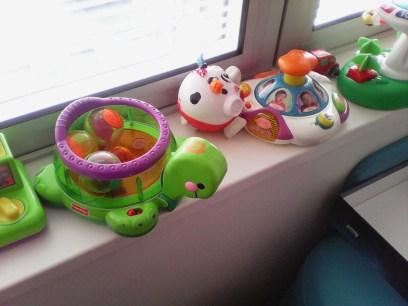 Kids toys in Sunlight