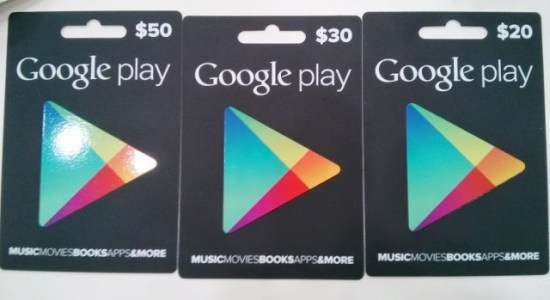 Australian Google Play Gift Cards