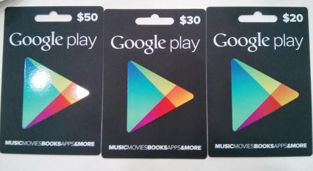 Australian Google Play Gift Cards