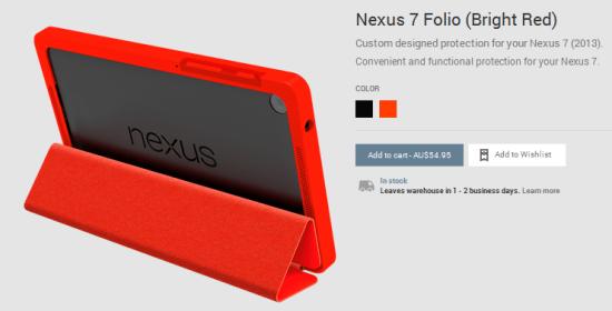 Nexus 7 Folio Case - Red