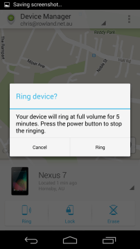 Ring your device