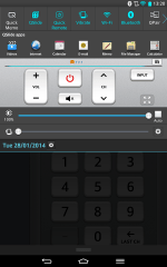 You can add a cut-down version of a remote control from the Quick Remote app into your notification shade, in case you didn't have enough stuff in there already.