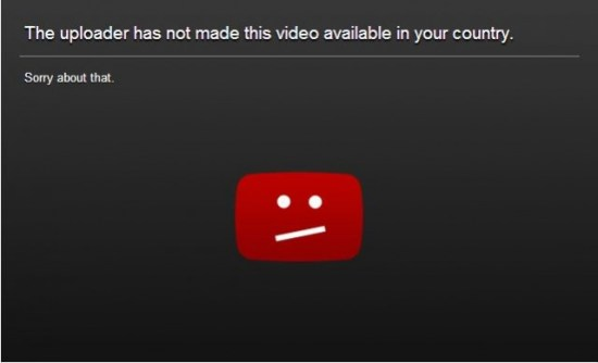 YouTube - Geo Blocked.