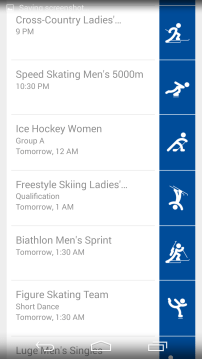 Sochi 2014 Google Now 2