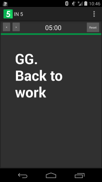 IN5 Go Back To Work