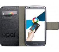 Black Flip Leather Galaxy S3 Opal Cover