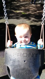 Flynn in a swing