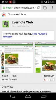 Evernote Chrome Web Store Mobile