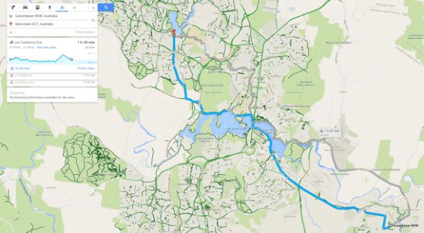 Google Maps - Biking