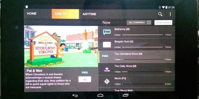 Foxtel Go on Nexus 7