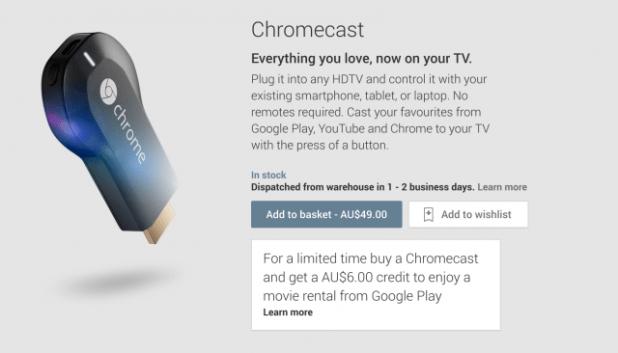 Google Play Chromecast