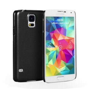 Samsung Galaxy S5 Hard Shell Case Matte Cover - Metal Black