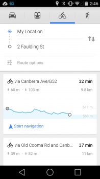 Cycling Routes with Comparison
