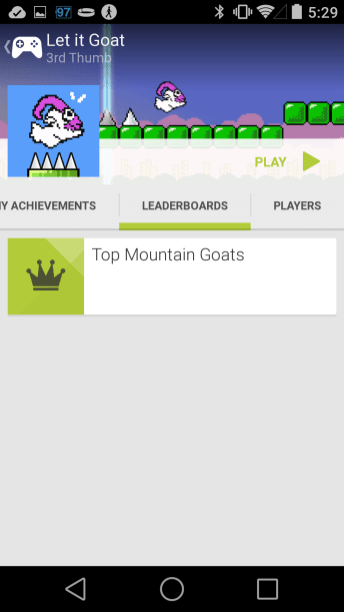 Google Play Games - Let it Goat Leaderboard