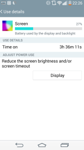 Battery - 1 Screen On Time