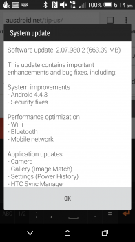 HTC One M8 4.4.3 Update