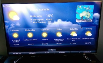 View the weather easily