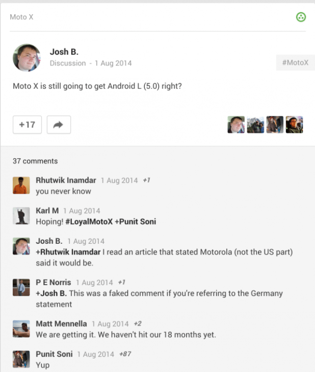 Moto X to receive Android L