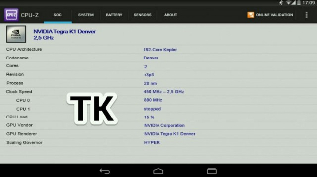 Nexus 9 to feature 64-bit Tegra K1 Processor clocked at 2