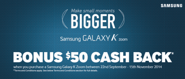 Galaxy K Zoom CashBack offer