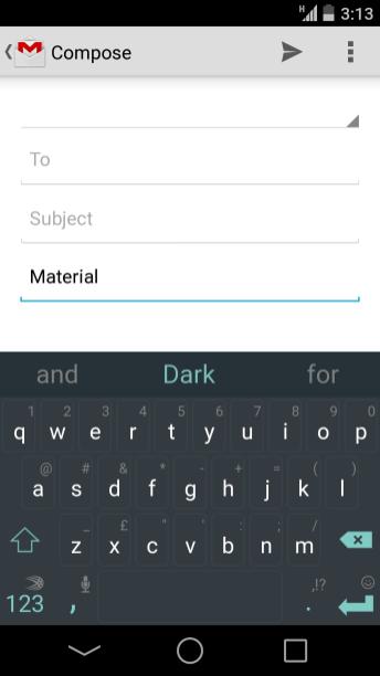 Swiftkey Material Dark
