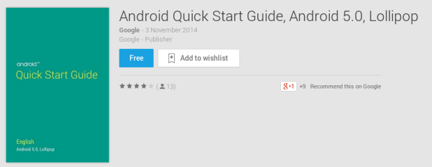 Android Quick Start Guide, Android 5.0, Lollipop