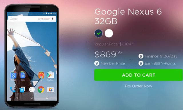 Cheaper Nexus 6 Yatango
