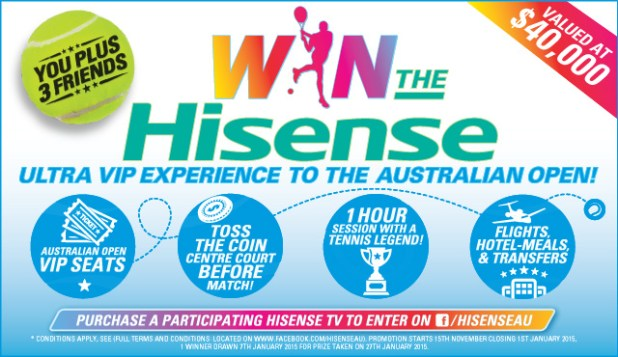 HiSense - Live Like a Tennis Pro Competition
