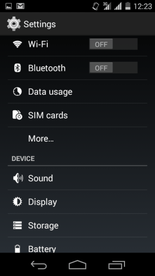 Micromax Canvas A1 - Settings - SIM Cards
