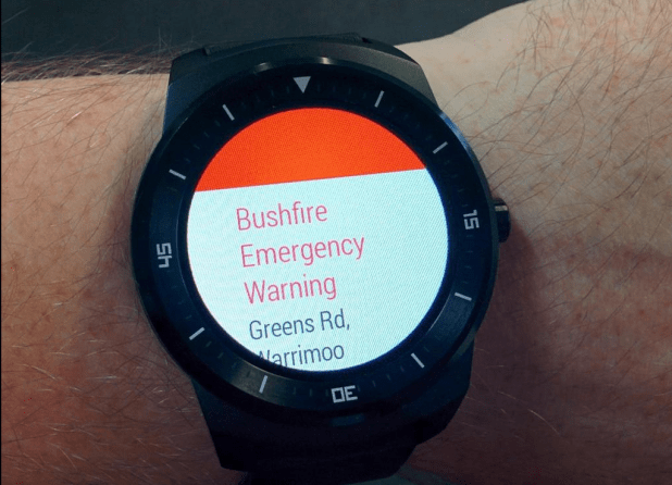 Public Alerts - Android Wear