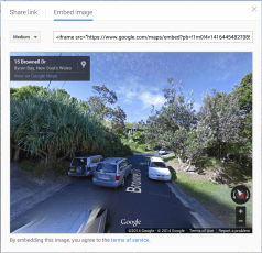 Streetview - Photo Sphere Embed