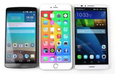 LG G3 vs iPhone 6+ vs Mate 7