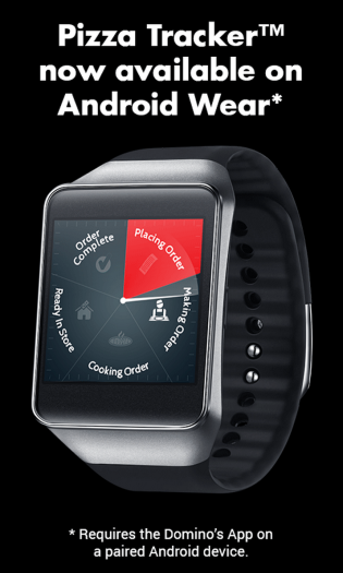 Android Wear Dominos
