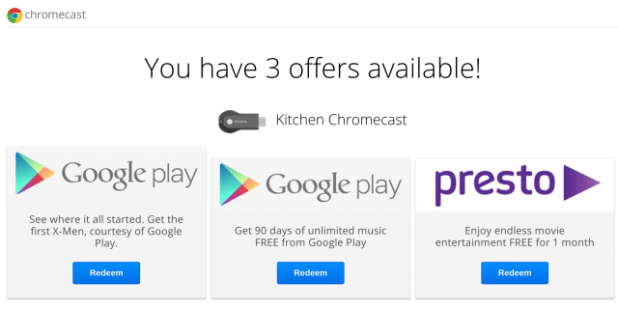 Chromecast Offers - Google Play