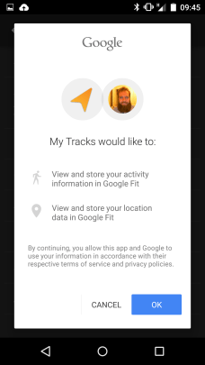 Google Fit - My Tracks 1