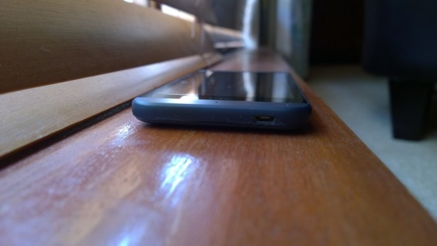 HTC Desire 510 - bottom of phone and microUSB port