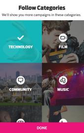 Indiegogo app 2