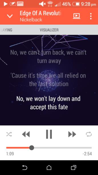 Music Player Lyrics