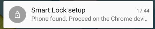 Smart Lock Setup notification on Android