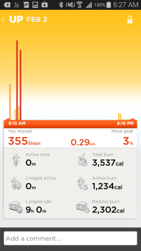Jawbone's UP Day/Week in Review