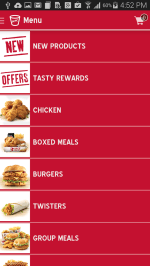 kFC Xpress Menu