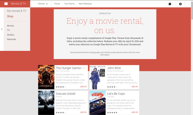 Google Play Movie Rental - March 2015