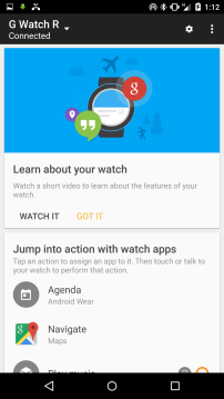 Android Wear - New - Learn About Your Watch