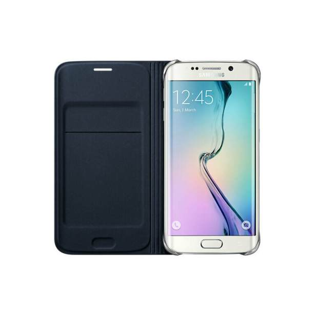 Samsung Galaxy S6 edge Flip Wallet - Blue Black