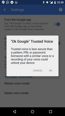 Trusted Voices - Smart Lock Ok Google