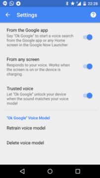Trusted Voices - Smart Lock Settings